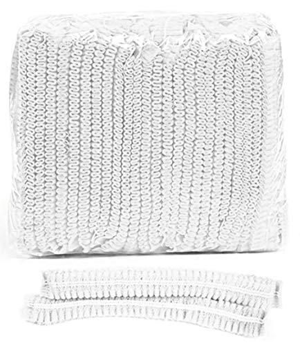 Gresunny 50 Stück Einweg Haarnetz Haarhut Schutzkappe Vlies Anti Staub Hüte Haarbezug Atmungsaktiv Haar Netze für Krankenhaus Salon Spa Industrie Kochen Hausarbeit Catering