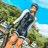 Damen Triathlon langärmliges Radfahren-Hemd Radfahren-Straßenanzug-Overall enge Rad-Sets (Color : 4, Size : XS)