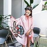 feiren Bufanda para mujer, primavera, verano, protección solar, bufandas largas, bufandas de moda, chales de protección solar (color: rosa)