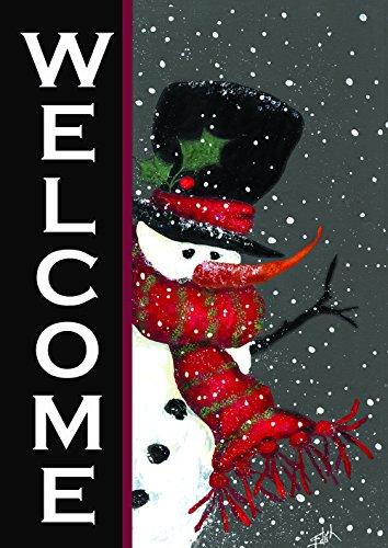 "Toland Home Garden 100563 Snowman Welcome 28 x 40 Inch Decorative, House Flag (28"" x 40"")"