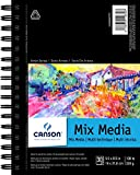 Canson Artist Series Mix Media Paper Pad for Wet or Dry Media, Dual Surface- Fine or Medium, Side Wire Bound, 138 Pound, 5.5 x 8.5 Inch, 30 Sheets