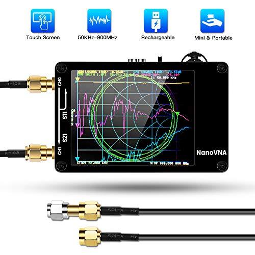 アンテナネットワークアナライザ 50KHz-900MHz 2.8 インチ デジタル タッチスクリーン 短波MF HF VHF UHFアンテナアナライザー定在波