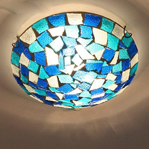 WWW Klassiek land in Europese stijl 30 cm lamp lichaam gips glas metaal onregelmatige mozaïek materiaal slaapkamer studie woonkamer 5 vierkante meter tot 8 vierkante meter wit oplichtend Energy Saving lamp PL