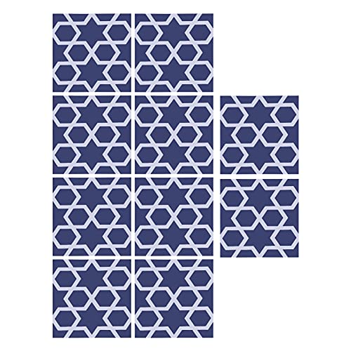 Atyhao 10 Piezas Pegatinas de Azulejos Impermeables 10x10cm Antideslizantes Autoadhesivas calcomanías de Pared para baño de Cocina(#2)