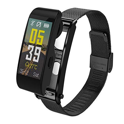 LWP Y6 Pulsera Inteligente De Deportes, Llamada Bluetooth Ritmo Cardíaco Presión Arterial Sangre Oxygen Sleep Monitoring Music Smart Watch para Android iOS,C