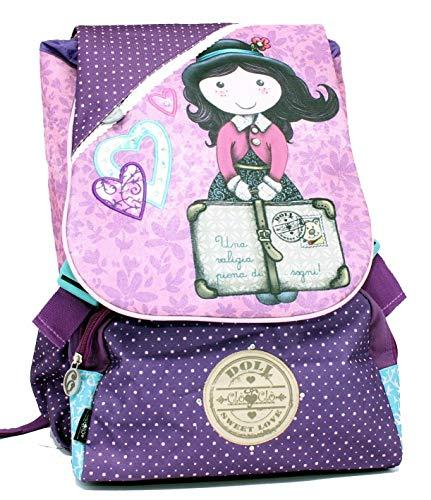 Mochila Extensible CLO' CLO' Doll Escuela Girl niña Media elementarios Grande Rosa