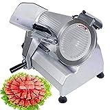 picadora de carne Carne máquina de cortar eléctrica Food Slicer comercial Deli máquina de cortar 240W Hotpot Carne de cordero virutas de corte de la máquina de 10 pulgadas de la hoja de servicio pesad