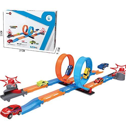 perfecti Kreatives Konstruktionsspielzeug Für Kinder Ab 3 Jahren, DIY Achterbahn Spielzeugspur Katapult Triebwagen Lernspielzeug Für Jungen & Mädchen, Mehrere Stile