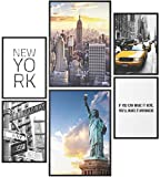 Papierschmiede® Mood-Poster Set New York | 6 Bilder als