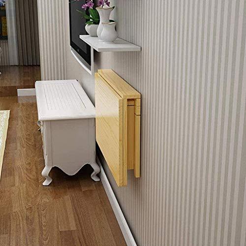Nachttisch, zusammenklappbar, Wandmontage, Esstisch, Computertisch, Doppelhalterung, Wandtisch für kleine Räume, Büro, Zuhause, Küche, Beistelltisch (Größe: 120 x 50 cm)