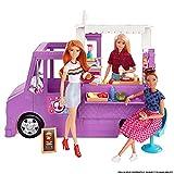 Barbie Furgoncino Street Food, Veicolo Trasformabile con più di 30 Accessori, Giocattolo ...