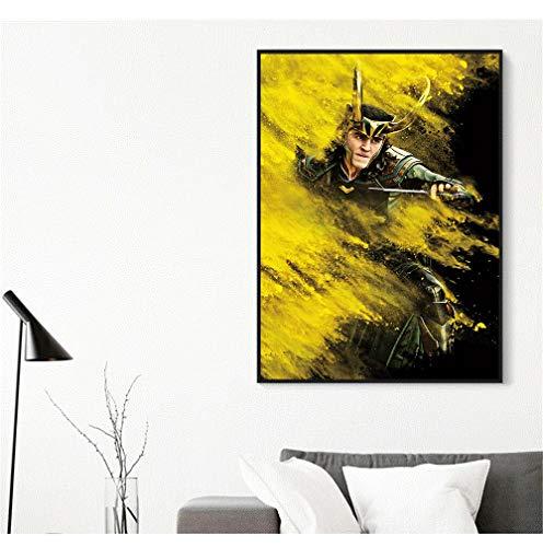 hetingyue Rahmenlose Promi Master Poster Wand Wohnzimmer Abstrakte Grafik Wandbild 30x40CM