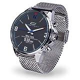 Oskron Gear Herrenschmuckuhr mit Smartwatch Funktionen M017-metallic
