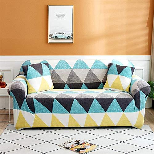 L&B-MR Funda de sofá elástica impresa, 1 funda de sofá ajustable, protector de muebles en forma de L para sofá de 1 2 3 4 (color: T, tamaño: 92 – 118 pulgadas)