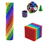 Pwhfgso M-agnetic Balls Rainbow Creative M-agnet Toys Creative Educational Toy Powerful Balls Desktop Sculpture Stress Relief Building Game Building Blocks(Eight Colors-3Millimeter-512PCS)