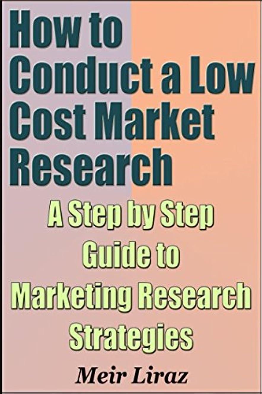 道路遡る裁判所How to Conduct a Low Cost Market Research - A Step by Step Guide to Marketing Research Strategies