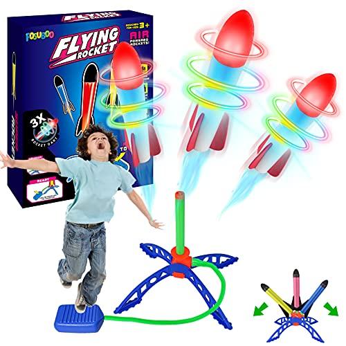 FOSUBOO Spielzeug für Draußen Rakete Spiele für Kinder Outdoor Gartenspielzeug Outdoorspiele Flugzeug Kinder Spiezleug Junge Mädchen ab 3 Jahre(bis zu 20M Spielsachen Garten Toy for Kids