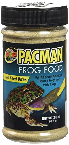 Zoo Med Pacman Frog Soft Food Bites Formulated Healthy Nutritious Diet 2 oz