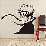 guijiumai Manga japonés Tatuajes de Pared Etiqueta de Vinilo de Pared Estilo de Anime Decoración Interior extraíble Calcomanías Personalizadas Pegatinas de Pared Gris M 81 x 90 cm