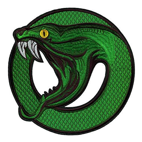 Patch zum Aufbügeln South Side Serpents – 21.6x21.6 cm - Motorrad Schlange Tiere Aufnäher Patches Groß Rücken XXL Erwachsene Rock Jacken Flicken Jungen Aufbügler Mädchen Applikationen zum Aufnähen