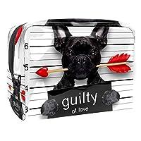 化粧ポーチトイレタリーバッグ化粧品オーガナイザー女性用ジッパーポーチ刑事犬