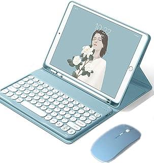 iPad 10.2 インチ キーボード ケース ワイヤレスマウス付き かわいい iPad 8 第8世代 iPad 7 第7世代 アイパッド 8 カバー 分離式 カラーキーボード付き iPad 10.2 アイパッド 7 カバー ペンホルダー付き ...