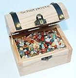 Wooden Treasure Chest Full of Tumble Stones -