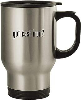 got cast iron? - 14oz Stainless Steel Travel Mug, Silver