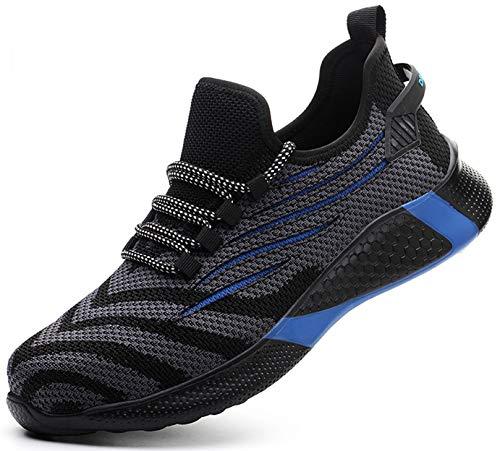 SUADEX 安全靴 軽量 黒 ブルー あんぜん靴 スニ一カ一 作業靴 通気性 おしゃれ 工事 現場 靴 作業 鋼先芯 耐摩耗 防刺 耐滑 アウトドア ワーク シューズ セーフティーシューズ