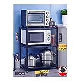 LIQIN Acero Inoxidable Estante Ranura Piso de la Cocina de microondas de Almacenamiento Almacenamiento Hogar Suministros Plataforma Multicapa (Size : 61 * 39 * 77cm)