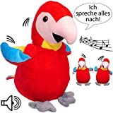 NACH sprechender - Papagei / Vogel / Ara -  Ich spreche Alles nach & bewege Mich dazu  - aus Stoff /...