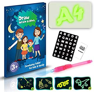 Drawing Toys - A3 A4 A5 LED Luminous Drawing Board Graffiti Doodle Drawing Tablet Magic Draw With Light-Fun Fluorescent Pe...