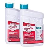 BASF Glysantin® G48 - 2 taniche da 1,5 L di liquido antigelo per radiatore, anticongelante concentrato, additivo per liquido di raffreddamento motore, colore: ciano