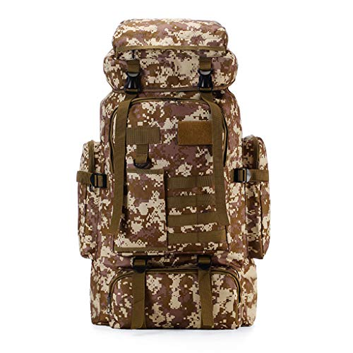 zyh Camouflage Hiking Backpack,Trekking Rucksack,Outdoor Hiking Tactics Mountaineering Camping Travel Bag,Sports Backpack