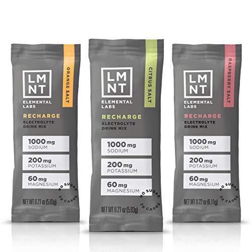 LMNT Keto Electrolyte Drink Mix | Paleo Hydration Powder | No Sugar, No Artificial Ingredients | Variety Pack | 12 Stick Packs