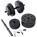 Goplus Weight Dumbell Set 40 LB Adjustable Cap Gym...