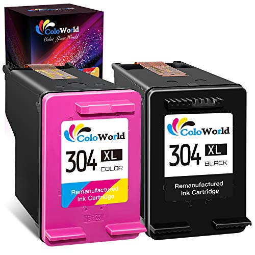 ColoWorld Remanufacturado 304 XL Negro Tricolor Cartuchos de tinta para hp 304XL MultiPack para HP Envy 5010 5020 5030 5055 Deskjet 2600 2620 2622 2632 2630 2633 3720 3750 3755 3764 AMP 130 Impresoras