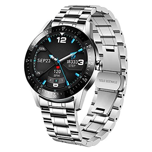 Z-S11G-SilverBlack Smartwatch, Reloj Inteligente con Monitor de Sueño, Pulsómetro, Cronómetros, Calorías, Podómetro Monitores de Actividad para iOS Android