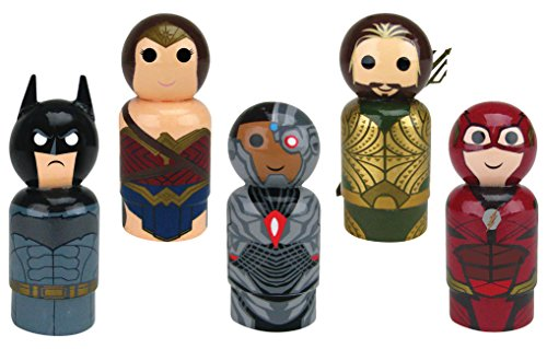 Bif Bang Pow! Justice League Movie Set of 5 Pin Mate Wooden Figure