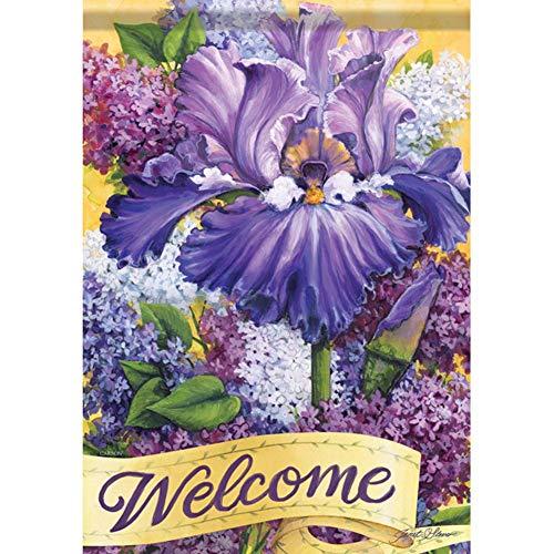 Carson House Flag - Lilac Blossoms
