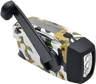 GJHK Portable Portable Extérieur Mini FM Multi-Bande FM Radio Solaire À Manivelle À La Main (12,9 * 6 * 5Cm)