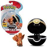 PoKéMoN Clip 'N' Go Vulpix y Poké Ball | Contiene 1 Figura de 5 cm y 1 Poké Ball | Nueva Ola 2021 | Licencia Oficial
