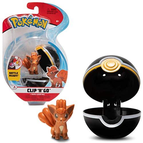 PoKéMoN Clip 'N' Go Vulpix y Poké Ball   Contiene 1 Figura de 5 cm y 1 Poké Ball   Nueva Ola 2021   Licencia Oficial