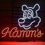 Urby Hamms Real Glass Neon Light Sign Home Beer Bar Pub Windows Garage W...