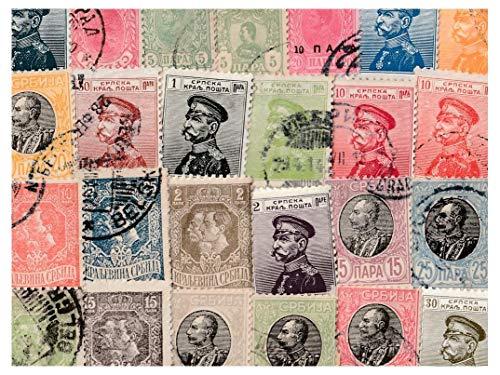 pghstamps Serbia 50 Colección de Diferentes Sellos para coleccionistas