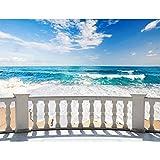 Papel Pintado Fotográfico Mar de playa 352 x 250 cm...