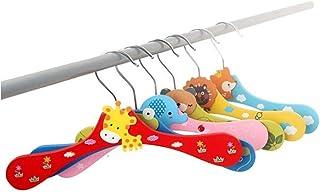 Tinksky 10 Piezas Perchas de Madera Metal para Niños Beb