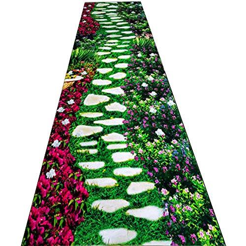 Byx- Corridor tapijt, hotel vergaderzaal 3D hot stamping tapijt, woonkamer tapijt, antislip, easy care, ondersteuning 3 kleuren, 7 breedte opties, (aanpasbare lengte) -gebied tapijten