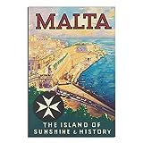 ASFGH Malta Vintage Reise-Poster Dekor Malerei Poster