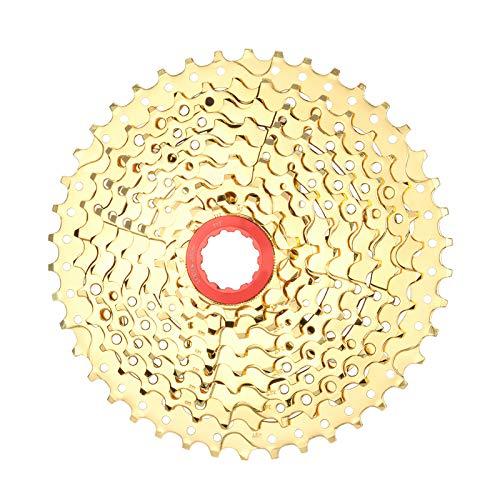 Vvciic Casete de bicicleta de 8/9/10/11/12 velocidades, piñón de cassette de acero de ciclo, piñón de rueda libre para bicicleta de montaña, bicicleta de carretera, MTB, BMX, SRAM, Shimano